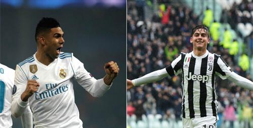 Dybala đối đầuCasemiro là cuộc so tài giữa hai thành viên của tuyển Argentina và Brazil. Ảnh: Marca.