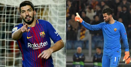 Chuỗi trận tịt ngòi của Suarez có nguy cơ kéo dài thêm khi đối đầu Alisson. Ảnh: Marca.