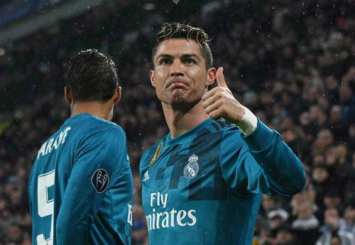 Ronaldo hướng tới danh hiệu vô địch Champions League lần thứ năm. Ảnh:AFP.