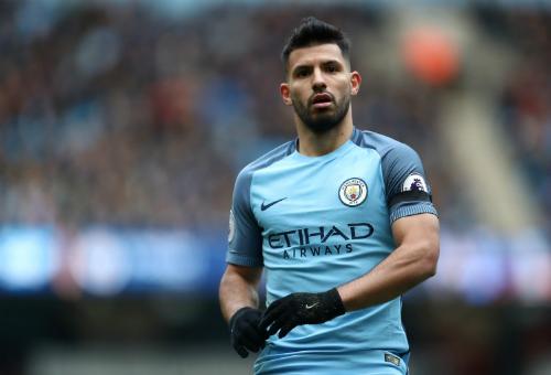 Aguero đã không ra sân một tháng cho Man City. Ảnh:AMA.