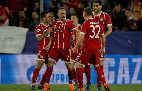 Ribery ghi dấu ấn trong chiến thắng của Bayern. Ảnh: Reuters.