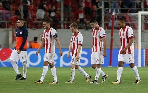 Olympiakos hiện xếp thứ ba với 51 điểm, kém chín điểm so với đội dẫn đầu. Ảnh: Reuters