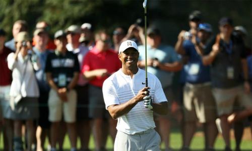 Woods tự tin trên sân tập ở Augusta, cho rằng không ai là ứng cử viên vô địch thực sự tại Masters năm nay.
