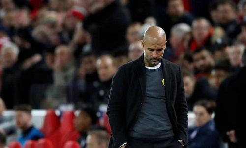 Guardiola tin Man City còn cơ hội đi tiếp dù thua đậm. Ảnh: Reuters.