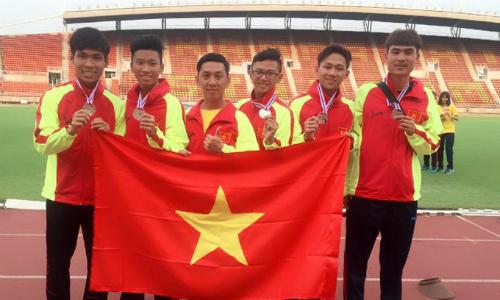 Thành công tại giải trẻ Đông Nam Á có thể là tiền đề tốt để điền kinh Việt Nam chinh phục các thành công trong tương lai. Ảnh: Điền kinh TP HCM.