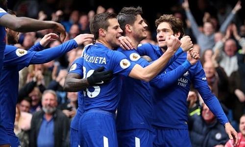 Cầu thủ Chelsea không bị ảnh hưởng thu nhập dù mất suất dự Champions League. Ảnh: PA.