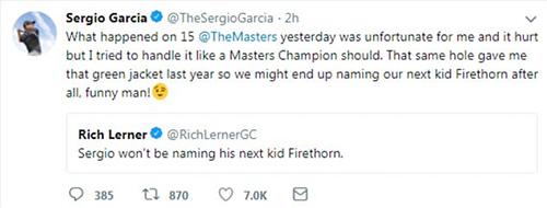 Garcia trả lời nhẹ nhàng trước lời châm chọc của Lerner.