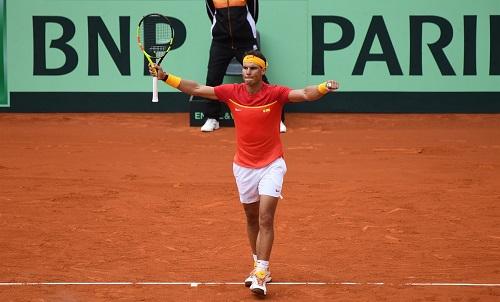 Nadal lập kỷ lục 23 trận thắng liên tiếp tại giải. Ảnh: Davis Cup.