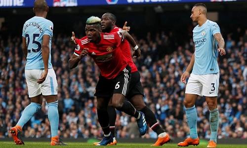 Sự chói sáng của Pogba giúp Man Utd ngược dòng ngoạn mục. Ảnh: Reuters.