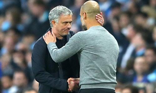 Mourinho khen ngợi Man City sau khi đánh bại đối thủ ở trận derby. Ảnh: Reuters.