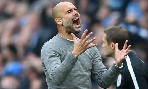 Guardiola cho rằng Man City đã làm tất cả để giành chiến thắng. Ảnh: AFP.