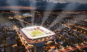 Sân Hàng Đẫy được đầu tư xây mới với kinh phí 300 triệu đôla