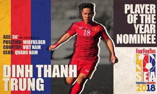 Thanh Trung đã có năm 2017 thành công cùng Quảng Nam. Ảnh: FFT.