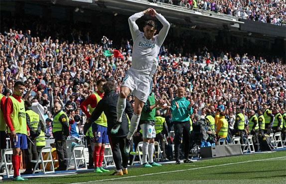 Real không có được niềm vui trọn vẹn, dù ghi bàn trước.