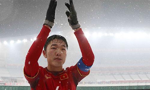 Xuân Trường là thủ lĩnh của U23 Việt Nam đoạt ngôi Á quân châu Á 2018. Ảnh: Anh Khoa.
