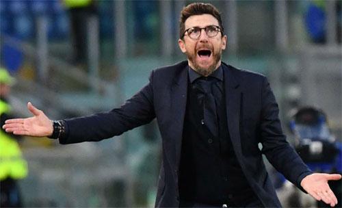 Roma của Di Francesco cần ghi ít nhất ba bàn và không để lọt lưới. Ảnh: Reuters