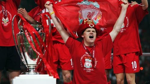 Riise là thành viên vô địch Champions League mùa 2004-2005 của Liverpool. Ảnh: Reuters.