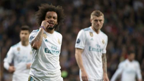 Marcelo và Real đi tiếp sau trận đấu nghẹt thở. Ảnh:AFP.