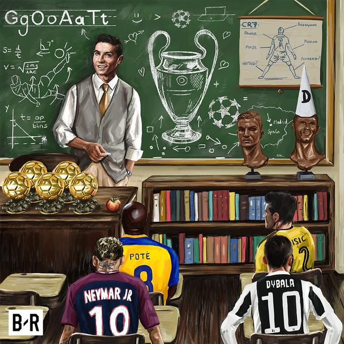 Ronaldo làm thầy giáo của Neymar ở mái trường Champions League
