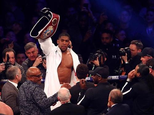 Joshua hiện giữ bốn đai vô địch thế giới là IBF, WBA, IBO và WBO. Ảnh: PA.