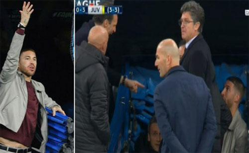 Ramos không chịu ngồi khán đài trong khi bị cấm thi đấu.