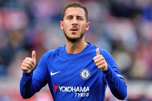 Hazard có khả năng rời Chelsea nếu đội bóng thành London không dự Champions League. Ảnh: PA.