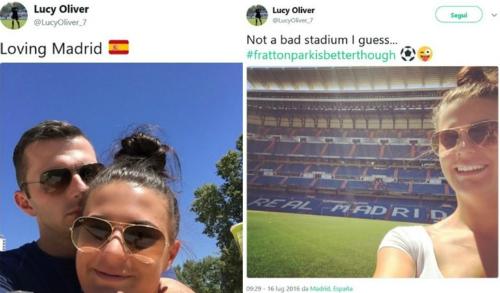 Những chia sẻ trên mạng xã hội của vợ ông Oliver là Lucy Oliver. Ảnh:Twitter.