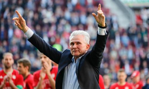 Heynckes giành chức vô địch Bundesliga sớm năm vòng cùng Bayern. Ảnh:EPA.