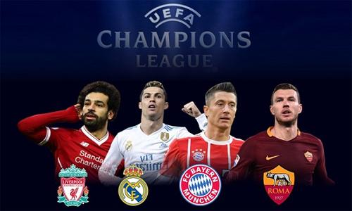 Lần đầu tiên trong lịch sử Champions League, bốn đội dự bán kết đại diện cho bốn giải vô địch quốc gia hàng đầu. Ảnh: AFP.