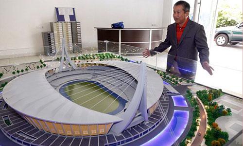 Mô hình sân vận động chính phục vụ SEA Games 2013 của Campuchia. Ảnh: Phnom Penh Post.