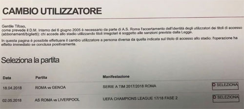 Thông báo hớ của Roma về trận bán kết với Liverpool.
