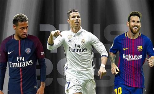 Ronaldo, Messi và Neymar được ví như những chú hổ không thể chung địa bàn.