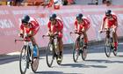 Tay đua TP HCM nén đau để thi đấu ở giải đua xuyên Việt