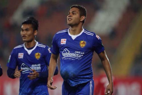 Thiago là cầu thủ thi đấu nổi bật nhất trận Hải Phòng - Quảng Nam. Ảnh: Quang Minh