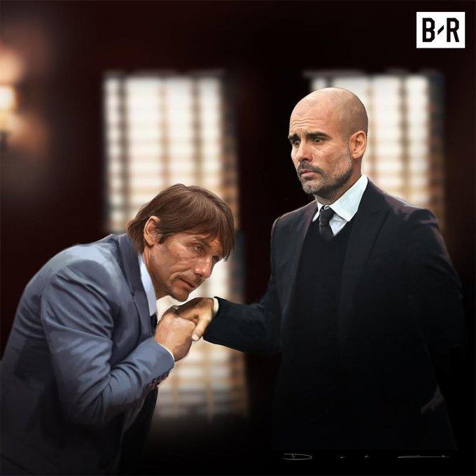 Conte cúi đầu, bàn giao vị thế 'Bố già' cho Guardiola
