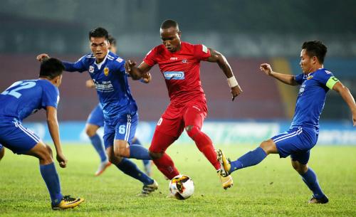 Hải Phòng đứng áp chót bảng điểm V-League với 4 điểm sau 5 trận. Ảnh: Lâm Thỏa