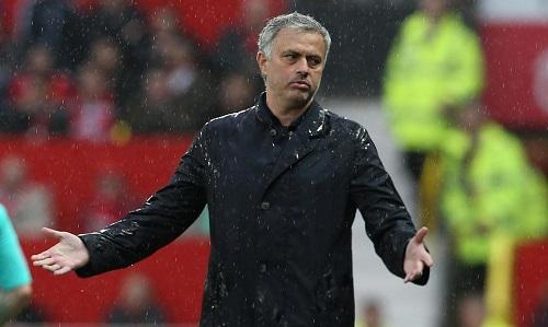 Mourinho không hài lòng với thái độ thi đấu của học trò. Ảnh: ManUtd.