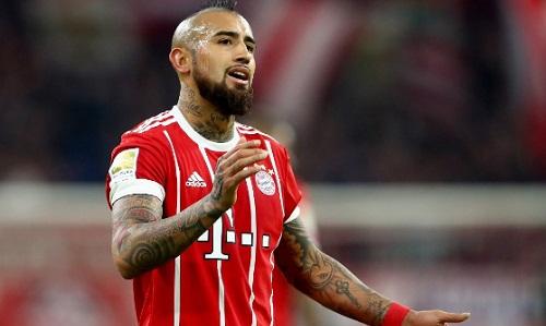 Vidal vắng mặt sẽ là mất mát không nhỏ với Bayern khi đấu Real. Ảnh: FC Bayern.