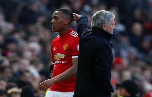 Mourinho không còn trọng dụng Martial. Ảnh:Reuters.