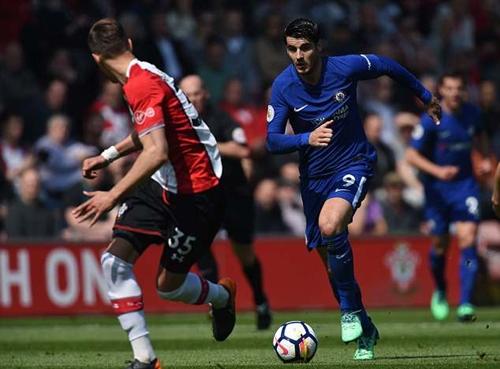 Morata không thể hiện được nhiều kể từ khi đầu quân cho Chelsea. Ảnh: PA.
