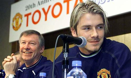 Beckham và Ferguson từng xảy ra xích mích lớn dẫn đến sự ra đi của cựu tiền vệ người Anh. Ảnh: Reuters.