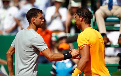 Nadal tỏ ra quá mạnh so với Dimitrov. Ảnh: AFP.