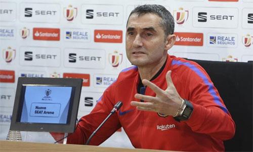 Valverde thận trọng sau khi bị Roma loại khỏi Champions League. Ảnh: DiarioSport