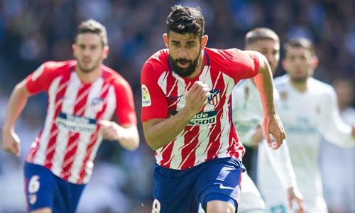 Diego Costa là chân sút chủ lực của Atletico. Ảnh: Reuters.