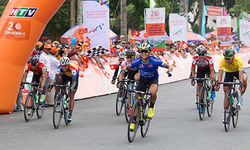 Lê Nguyệt Minh lần thứ sáu giành thắng chặng. Ảnh: Văn Thuận.