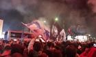 20.000 tifosi đón Napoli trở về sau trận thắng Juventus