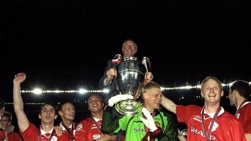 Man Utd đã ghi hai bàn trong phút bù giờ để vô địch Champions League năm 1999. Ảnh: Reuters.