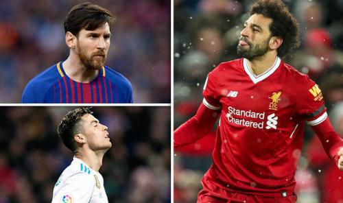 Salah đang khiến hai ngôi sao Ronaldo và Messi phải ngước nhìn.
