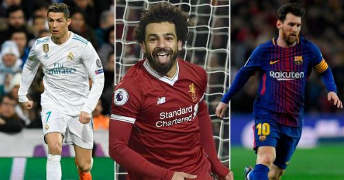 Salah đang vượt mặt Ronaldo và Messi về thành tích ghi bàn ở mùa giải năm nay.