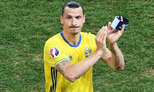 Ibrahimovic có 116 lần khoác áo tuyển Thụy Điển. Ảnh: Reuters.